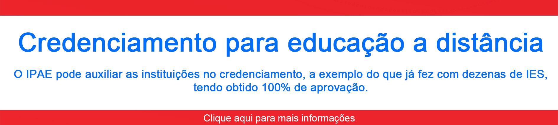 credenciamento de IES para educação a distância